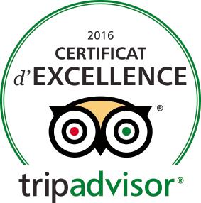 Certificat excellence tripadvisor 2016